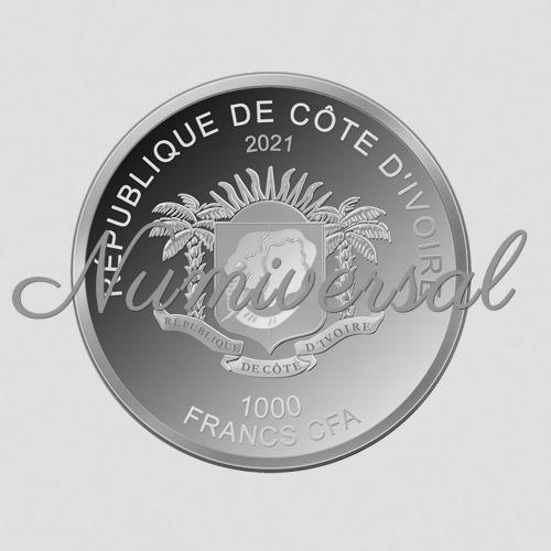 Elfenbeinküste 1000 Francs 2021