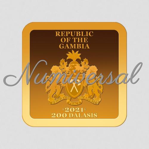 Gambia 11 mm Gold 2021-quadrat