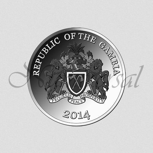 Gambia-2014-Silber-Rund-Wappenseite-Numiversal