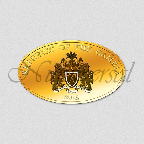 Gambia-2015-Gold-Oval-Wappenseite-Numiversal