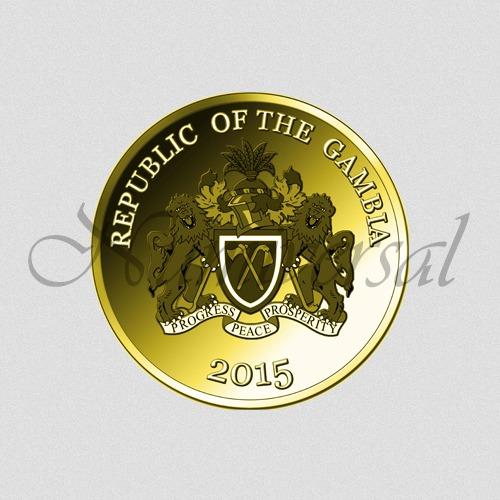 Gambia-2015-Gold-Rund-Wappenseite-Numiversal