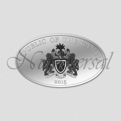 Gambia-2015-Silber-Oval-Wappenseite-Numiversal