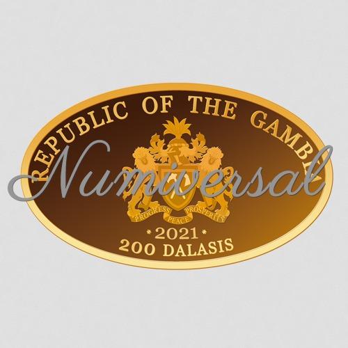 Gambia Gold Münze 2021