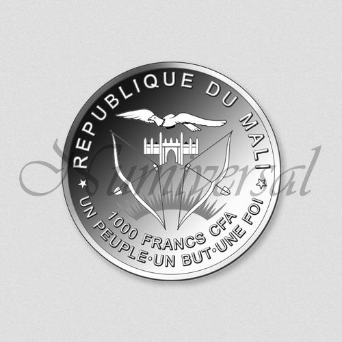 Mali-1000-Silber-Rund-Wappenseite-Numiversal