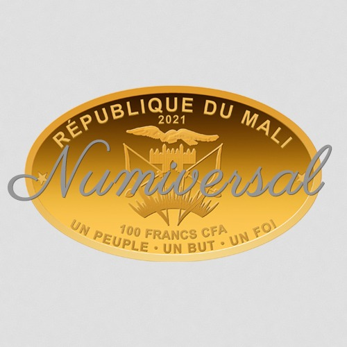 Mali Oval 100 Francs quer 2021