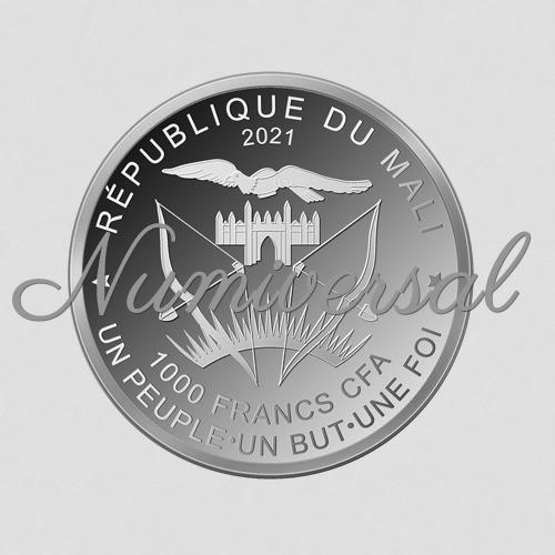 Mali Silber Rund 1000 Francs 2021