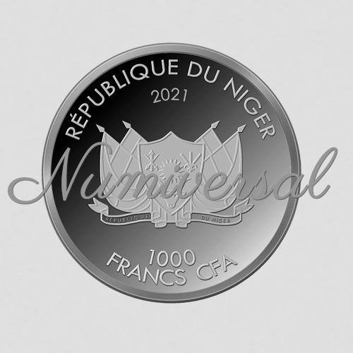 Niger 1000 Francs 2021 Silber Rund