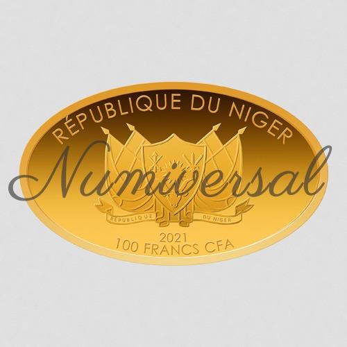Niger 2021 100 Francs Gold oval