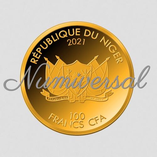 Niger 2021 100 Francs Gold