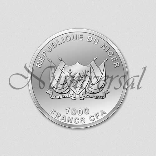 Wappenseite - Niger - Rund - Silber - 1000