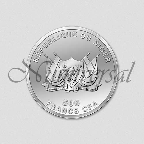 Wappenseite - Niger - Rund - Silber - 500