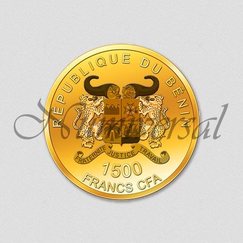 Wappenseite - Benin - Rund - Gold