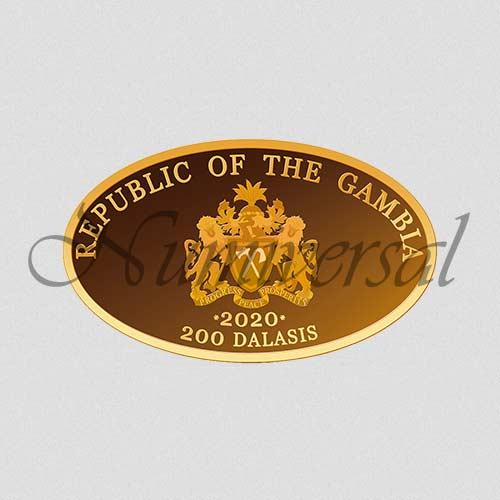 Wappenseite - 2020 - Goldmünze - Oval