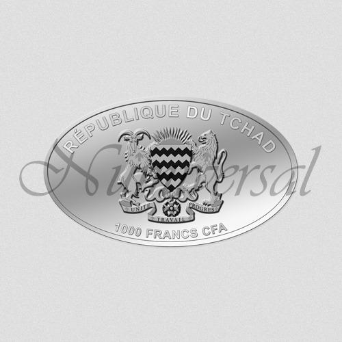 Tschad-1000-Silber-Oval-Wappenseite-Numiversal