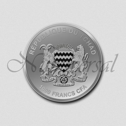 Tschad-1000-Silber-Rund-Wappenseite-Numiversal