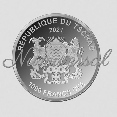 Tschad 2021 1000 Francs Silber