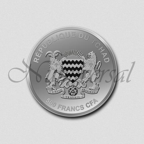 Tschad-500-Silber-Rund-Wappenseite-Numiversal