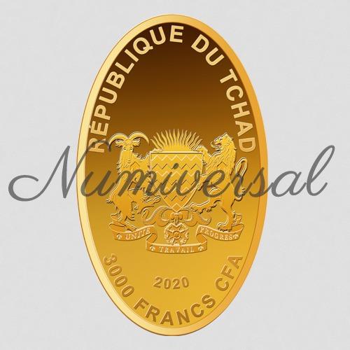 Tchad gold 2020 oval hochkant