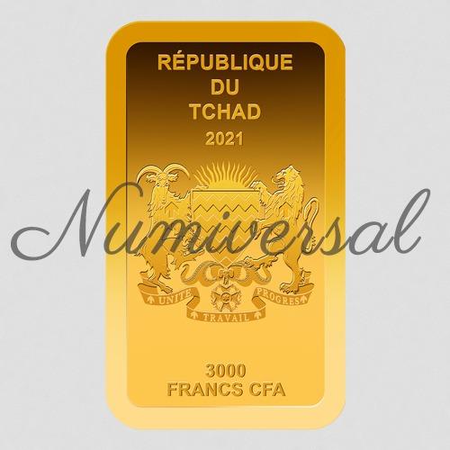 Tchad Goldbarren hoch 2021