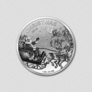 Fröhliche Weihnachten 2015 - Silbermünze - Numiversal