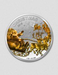 Fröhliche Weihnachten 2015 - Teilvergoldete Münze - Numiversal
