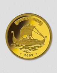 436-Wikingerschiff-2009-Gold-Numiversal