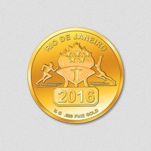 Olympiade-Rio-2016-Goldmuenze-Rund-Numiversal-2016