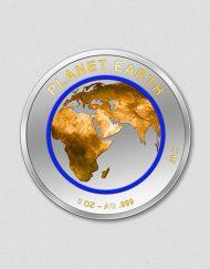 """5 Unzen Silbermünze """"Planet Erde - Ausgabeland Niger - Numiversal"""""""