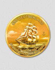 Windjammer SSS Deutschland Numiversal Goldmünze 2016