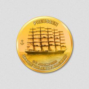 Windjammer Preussen Numiversal Goldmünze 2016