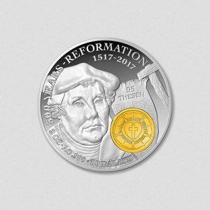 Martin Luther - 500 Jahre Reformation - Silbermünze Teilvergoldet 2017 - Numiversal