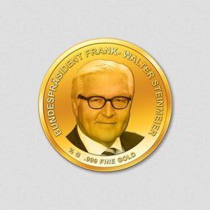 Frank-Walter Steinmeier Bundespräsident 2017 Goldmünze Numiversal