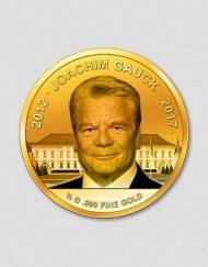 Amtsabtritt Joachim Gauck 2016 Goldmünze Numiversal