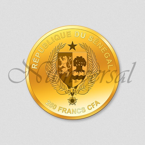 Wappenseite - Senegal - 250 Francs CFA - Goldmünze - Numiversal