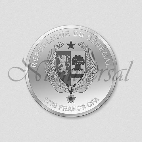 Wappenseite - Senegal - 1.000 - Silbermünze - Numiversal