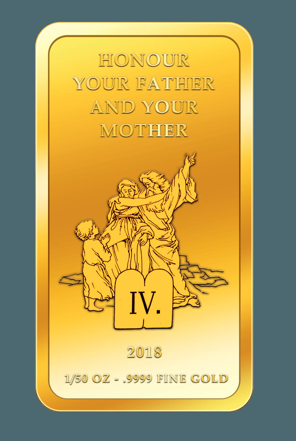Die 10 Gebote - 4. Gebot - Goldbarren 2017
