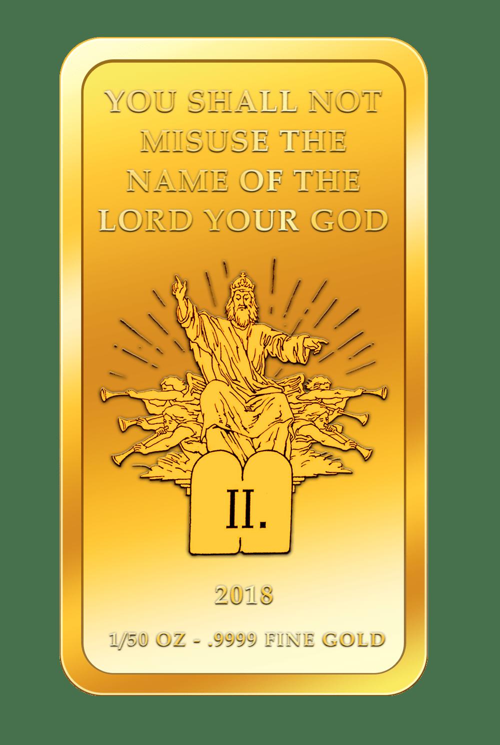 Die 10 Gebote - 2. Gebot - Goldbarren 2018