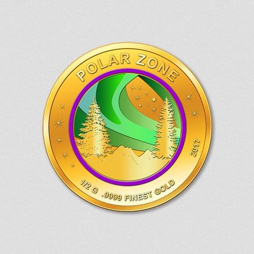 Polarzone Polarlicht Goldmünze 2017 Numiversal