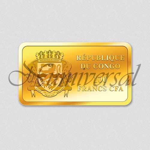 Wappenseite - Congo - Goldbarren