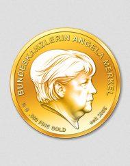 Bundeskanzlerin Angela Merkel - Goldmünze 2017