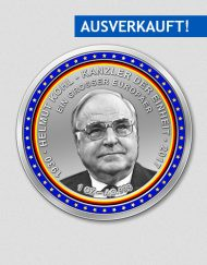 Helmut Kohl - Sterbemünze - Silbermünze - 2017 - Numiversal