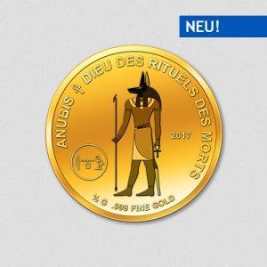 Ägyptische Götter - Anubis - Goldmünze - 2017 - Numiversal