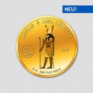 Ägyptische Götter - Horus - Goldmünze - 2017 - Numiversal
