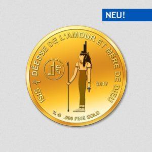 Ägyptische Götter - Isis - Goldmünze - 2017 - Numiversal