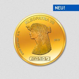 Ägyptische Götter - Kleopatra - Goldmünze - 2017 - Numiversal