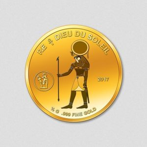 Ägyptische Götter - Re - Goldmünze - 2017 - Numiversal