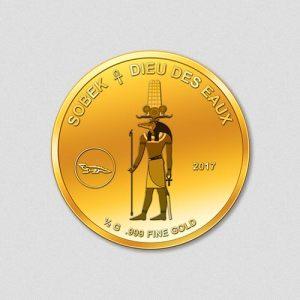 Ägyptische Götter - Sobek - Goldmünze - 2017 - Numiversal