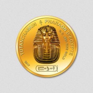 Ägyptische Götter - Tutanchamun - Goldmünze - 2017 - Numiversal