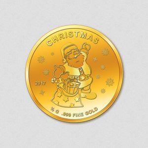 Weihnachten - Goldmünze -Numiversal - 2017