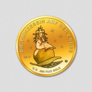 Die Prinzessin auf der Erbse - Goldmünze - 2017 - Numiversal